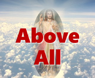 Jesus in the clouds - above all