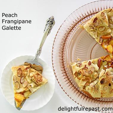 Peach Frangipane Galette - Rustic Tart / www.delightfulrepast.com