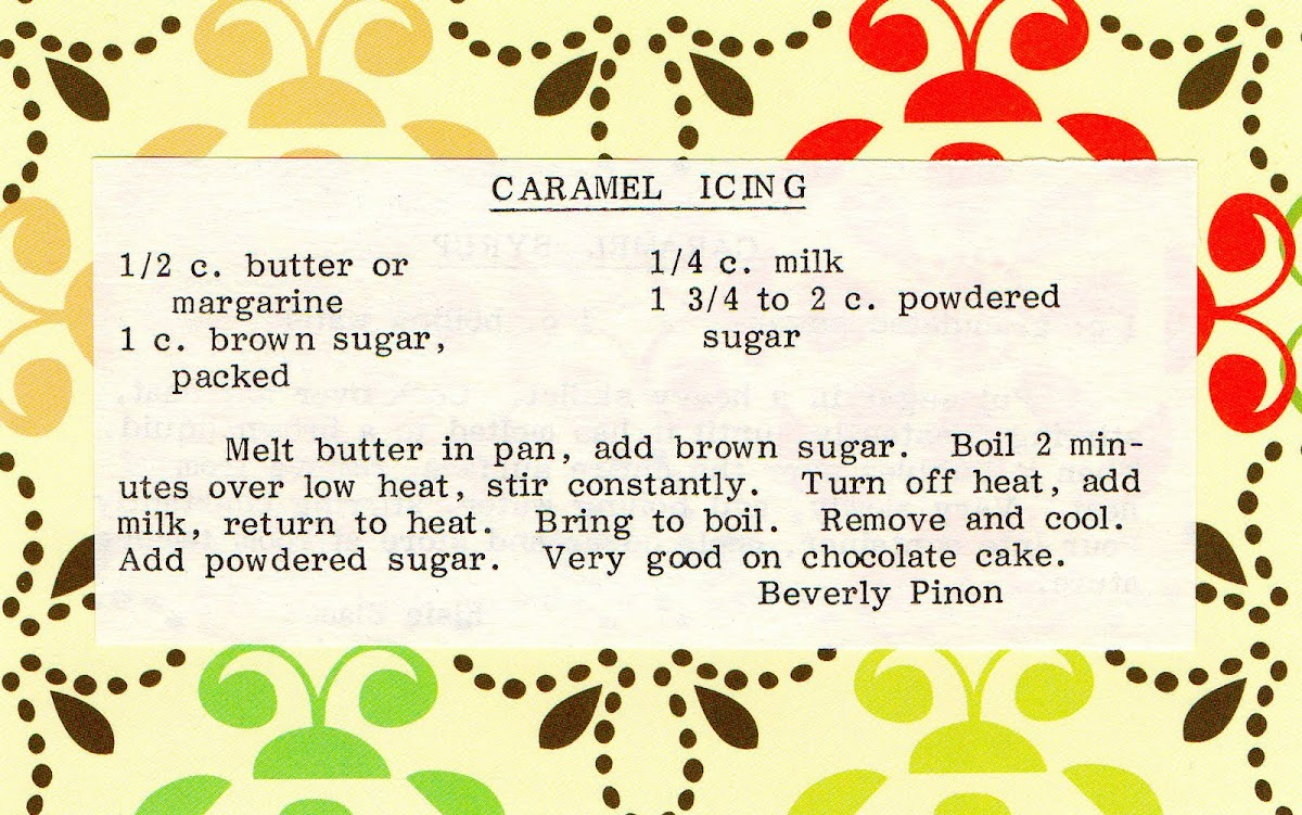 Caramel Icing (quick recipe)