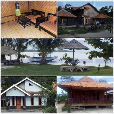 Homestay Tanjung Lesung Pinggir pantai