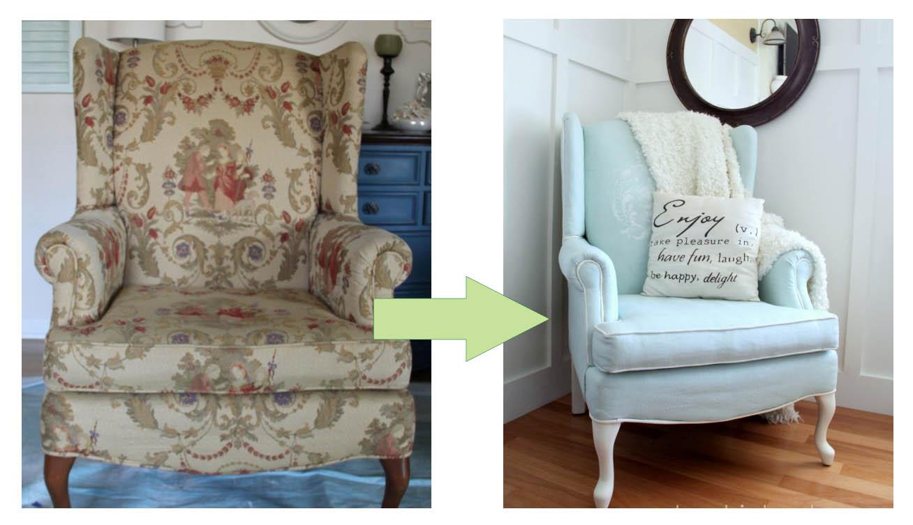 C mo pintar las telas y tapizados de sillas y sillones - Telas para tapizar un sillon ...