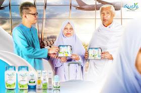 Suchi produk kelengkapan peribadi ketika umrah dalam pek mudah travel, set mudah travel ketika umrah, produk suchi ketika ihram,