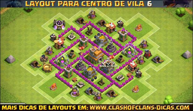 Dica de Layout para Centro de Vila 6 - Atualizado com segunda defesa aérea