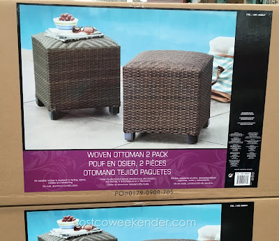 Furnish your patio or backyard with the Woven Ottoman