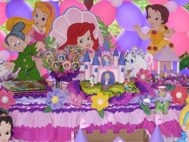 Ideas para tus fiestas tematicas decoraci n princesas bebes - Decoracion fiesta princesas disney ...
