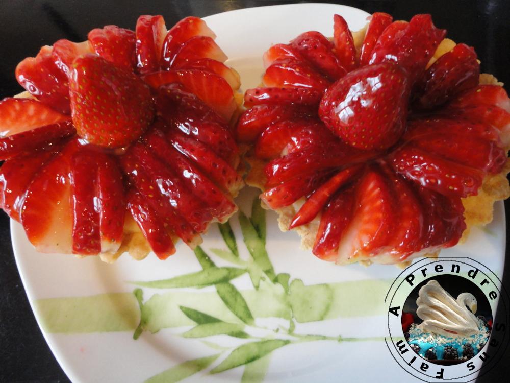Tartes aux fraises individuelles