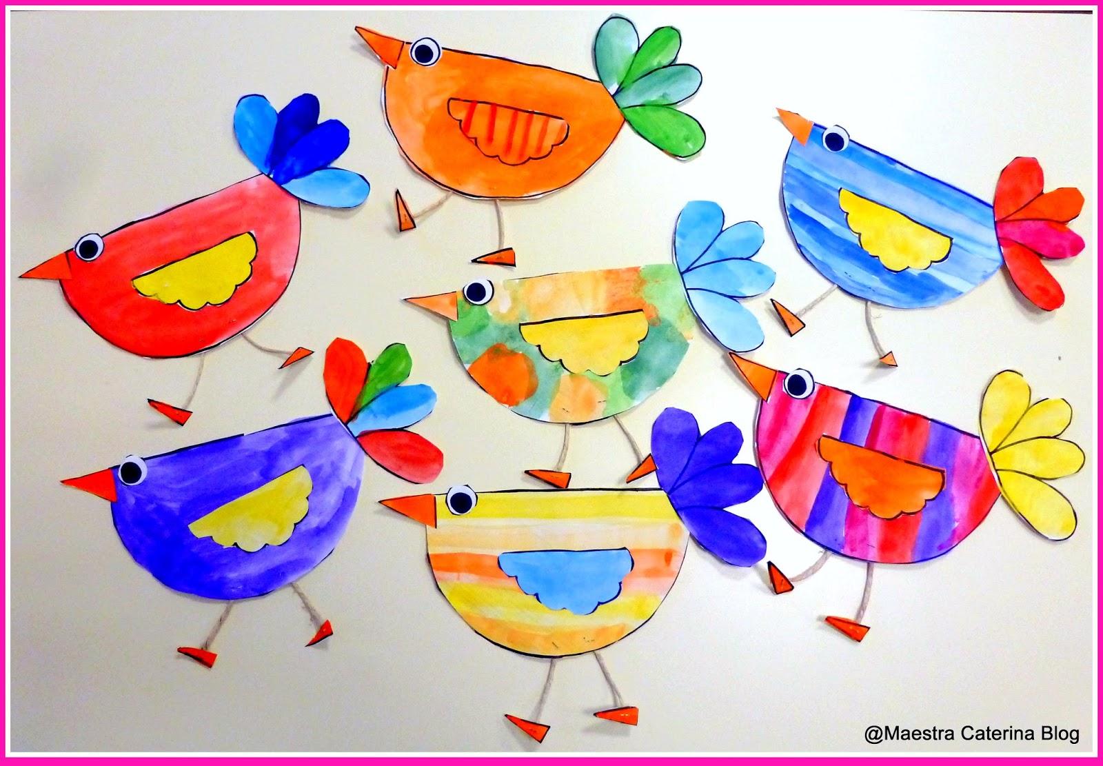 Maestra caterina uccellini di primavera per addobbi for Addobbi scuola infanzia