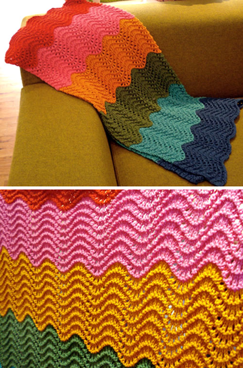 Wave Blanket - Free Pattern
