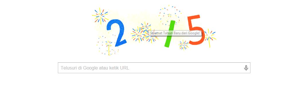 Google Doodle Tahun Baru 2015