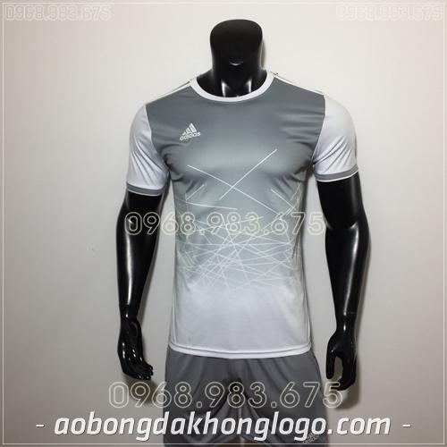Áo Bóng Đá Ko Logo Adidas KC Xám
