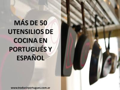 utensílios, cozinha, cocina, español, portugués, traducción