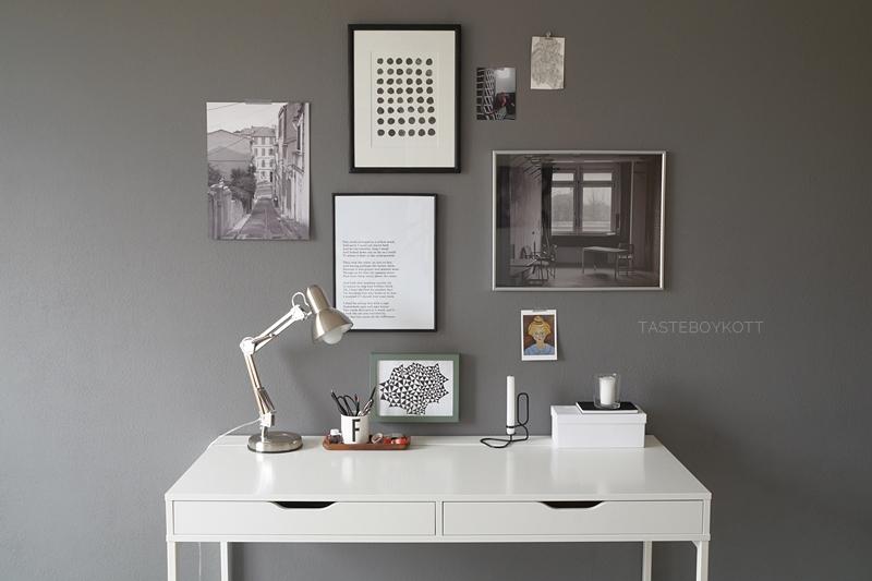 Deko update arbeitsplatz mit bilderwand tasteboykott - Bilderwand skandinavisch ...