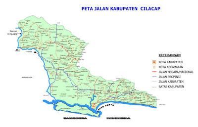 Peta Jalan di Kabupaten Cilacap