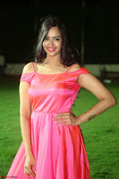 Actress Pujita Ponnada in beautiful red dress at Darshakudu music launch ~ Celebrities Galleries 029.JPG