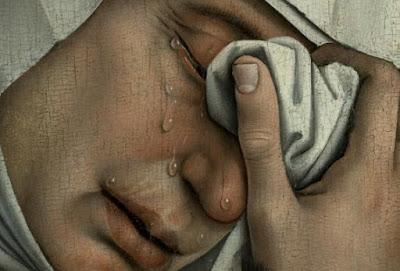 Imgen de lágrimas de dolor con sentimiento
