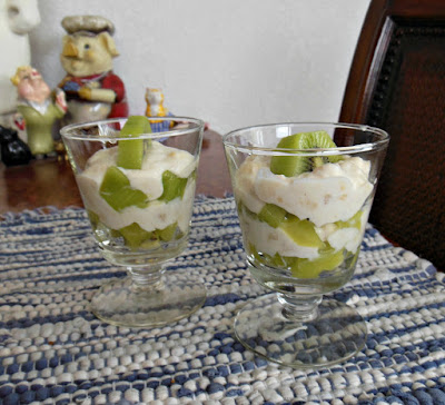 Creamy Banana and Kiwi Parfaits.