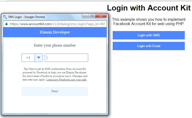 Facebook Accountkit Login Using Mobile Sms Javascript My Codde