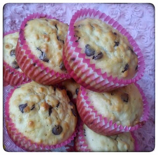 Muffins aux flocons d'avoines et pépites de chocolat