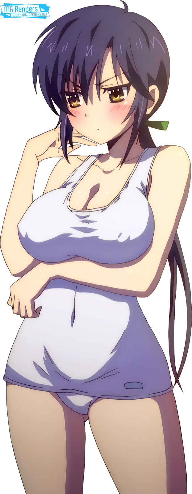 Tags: Anime, Render,  Breasts press,  Misumi Rin,  Okusama ga Seitokaichou!,  Sukumizu,  PNG, Image, Picture