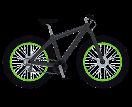 ファットバイクのイラスト(自転車)