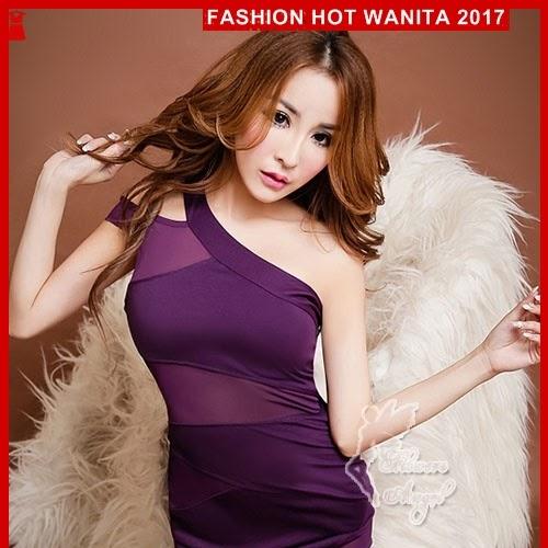 FWS061 Sexy Dress 106 Purple Wanita Clubwear BMGShop