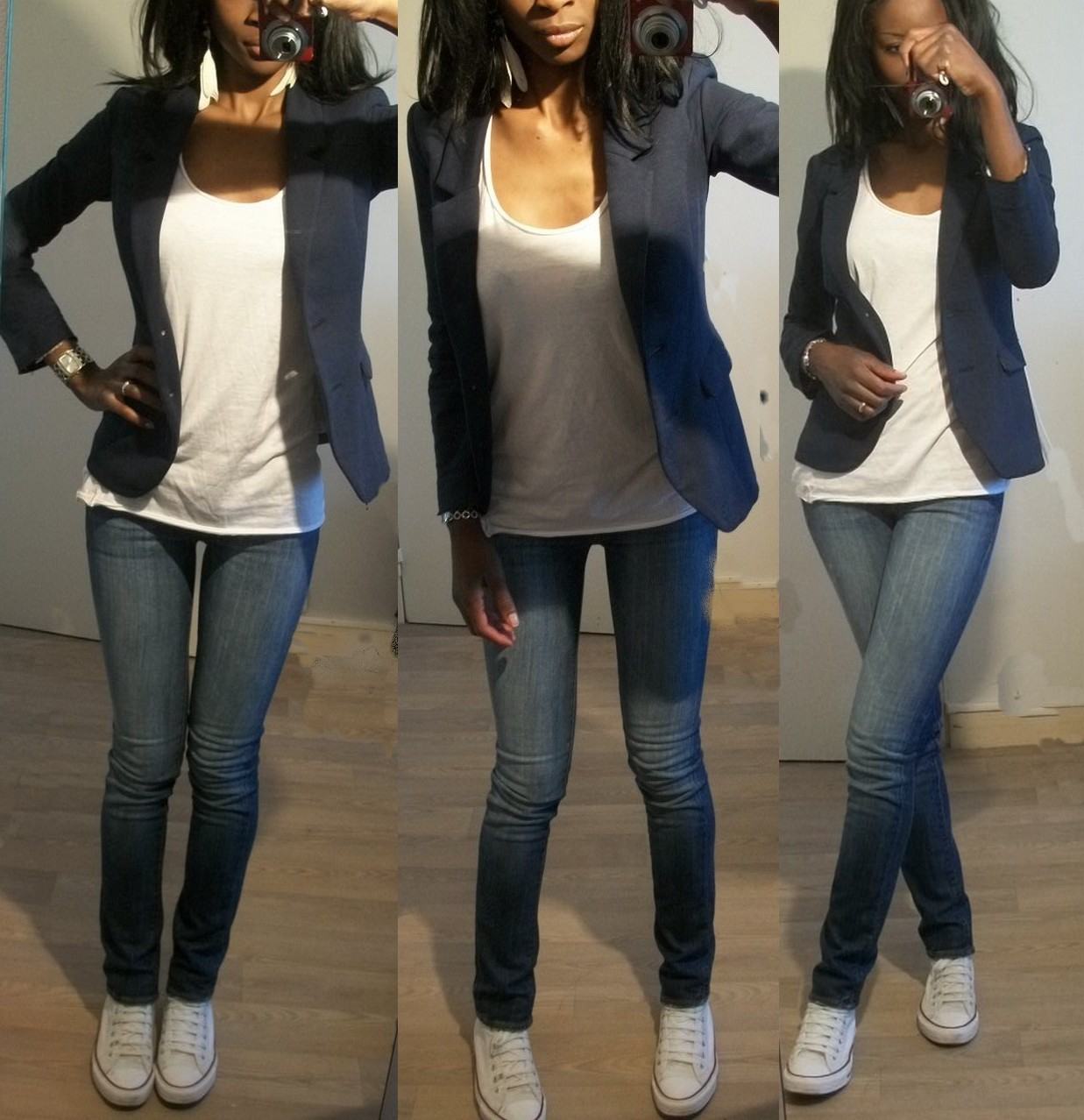 look converse blanche femme