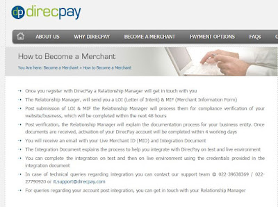 DirecPay - Payment Gateway India, Online Merchant Account Services