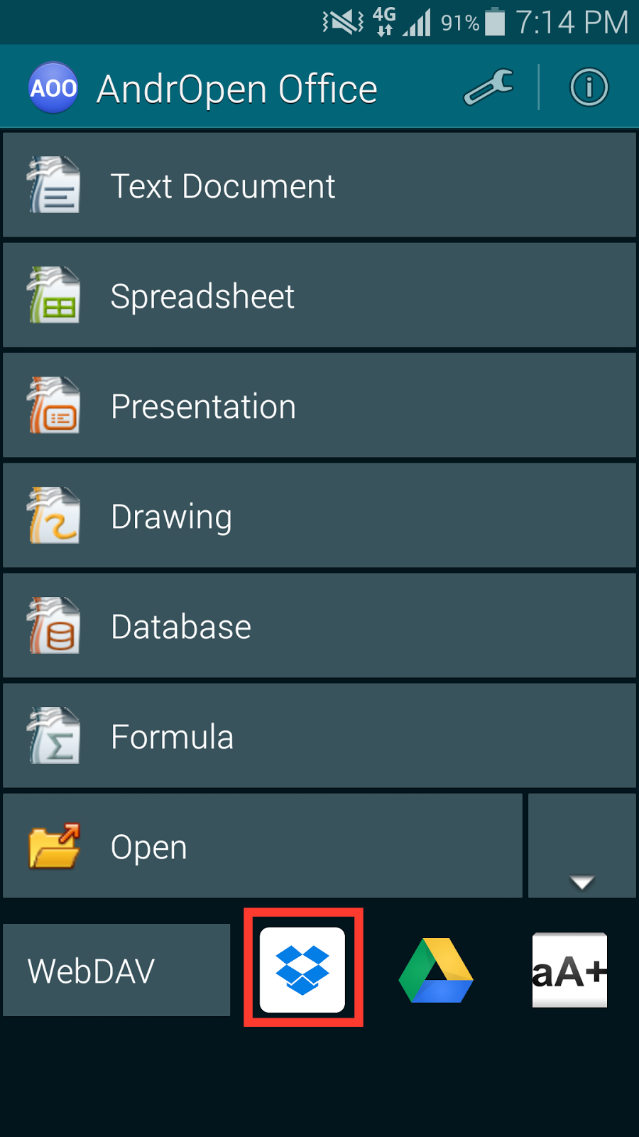 andropen office 1.4.6