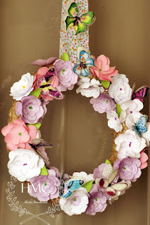 http://handmadcreations.blogspot.co.uk/2016/03/blooming-spring-wreath.html