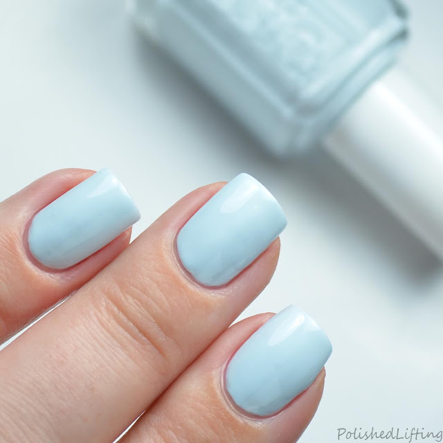 pale blue creme nail polish