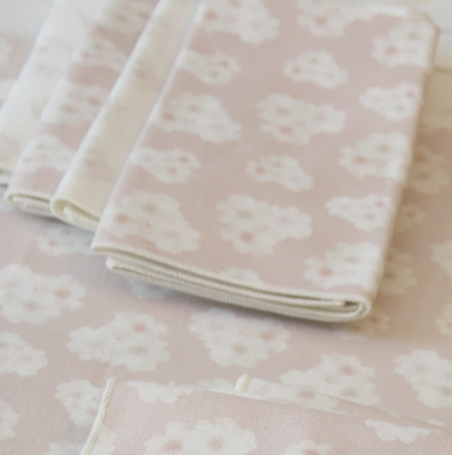 Minted blush pink runner and napkins Polka dot peonies - Hello Lovely Studio