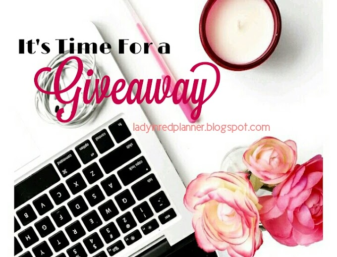 Giveaway Akhir Tahun 2018 by Lady in Red Planner