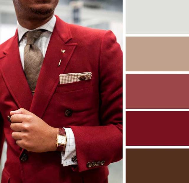 Bir ceket için koyu kırmızı bir renk özellikle çarpıcı olabilir