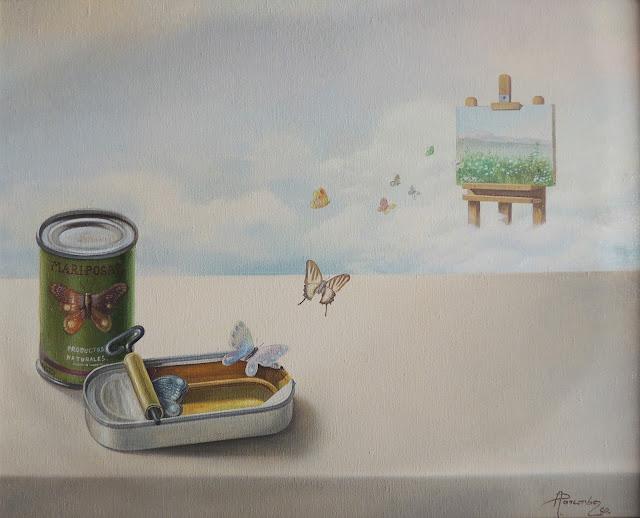 Alberto Pancorbo arte moderno hiperrealista surrealista paisaje creación mariposas
