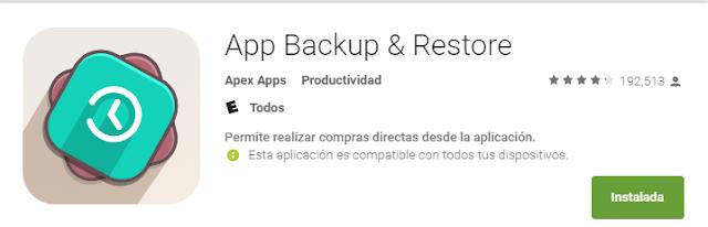App backup & restore google play banner