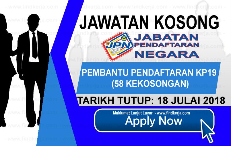 Jawatan Kerja Kosong JPN - Jabatan Pendaftaran Negara logo www.ohjob.info www.findkerja.com julai 2018
