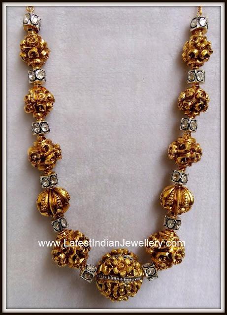 Nakshi gold Gundu Mala
