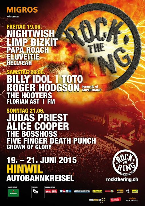 Click to buy tickets for FM at Rock The Ring Festival Switzerland - 20 June 2015