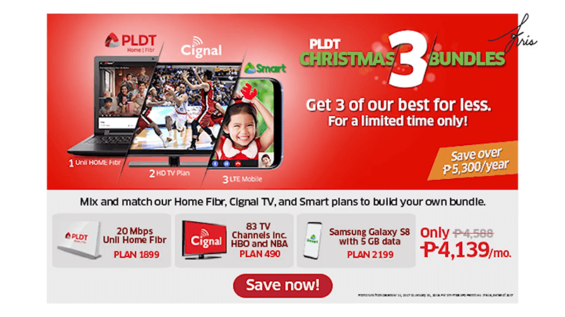 PLDT announces Christmas 3 Bundle Promo
