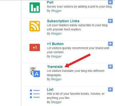 Blog me Google Translate widget kaise Add kare