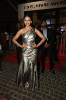 Rakul Preet Singh in Shining Glittering Golden Half Shoulder Gown at 64th Jio Filmfare Awards South ~  Exclusive 043.JPG