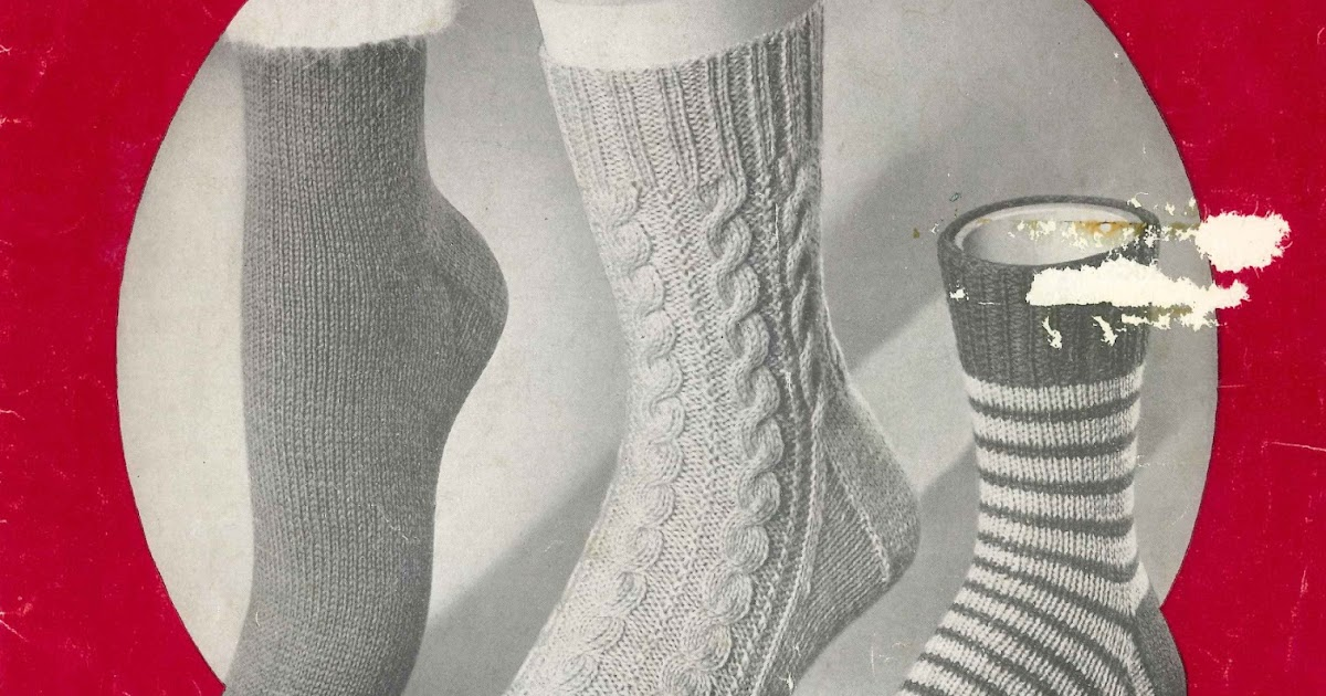 The Vintage Pattern Files: 1950s Knitting - Doreen 2 Needle Socks Booklet