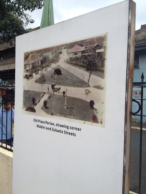 Old photos of Parian at the Heritage of Cebu Monument