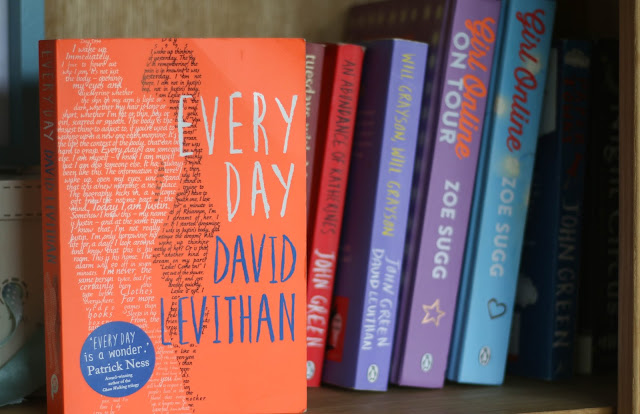 young adult book every day by david levithan on bookshelf