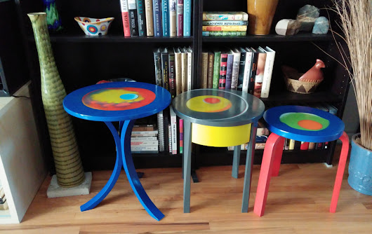 Trio of Functional Art Tables