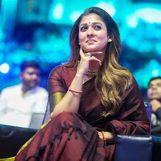 Nayanthara New Saree Stills At Zee Cine Awards Tamil 2020