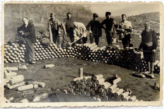 Unexploded ordnance - WW1 legacy on the Macedonian Front – Clearing the terrain around Bitola and Mariovo (period of photo after WW2)