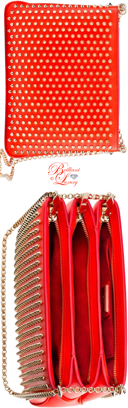 Brilliant Luxury ♦ Christian Louboutin Triloubi chain bag