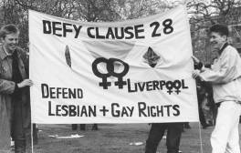 Deny Clause 28 banner London 1988
