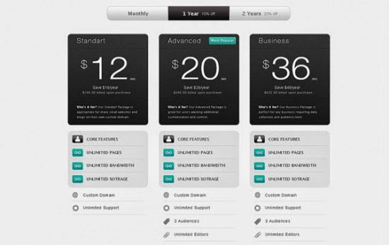 Stada Pricing Tables PSD